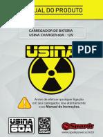 CARREGADOR DE BATERIA USINA CHARGER 60A - 12V
