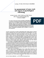 Warr, T, Cook, P y Wall, K 1979 Scales for the measurement of some work attitudes and aspects of psychological wellbeing