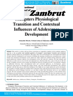 Youngsters Physiological Transition and Contextual Influences of Adolescence Development