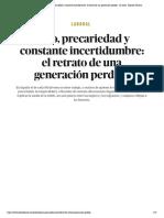 Laboral _ Paro, precariedad y constante incertidumbre_ el retrato de una generación perdida - El Salto - Edición General