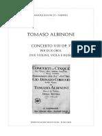Albinoni - Concerto 8 Op. 7 Para 2 Oboes y Cuerdas (Guion)