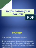 Factorii Darwinisti Ai Evolutiei