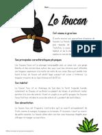 Texte Informatif - Le Toucan Version Finale