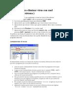 Secuencia para eliminar virus con cmd