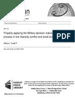 MDMP in Low Intesity Conflict