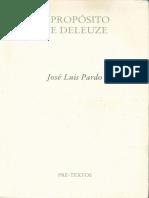 A Proposito de Deleuze-jose Luis Pardo
