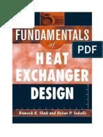 fundamental of heat exchanger design