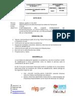 ACTA N° 1 COMITE PERMANENTE DE ESTRATIFICACION