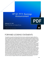 HP Q1 FY11 Earnings Announcement