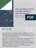 Resumen de La Carta Apostólica Rosarium Virginis Mariae