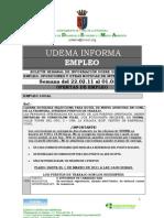 Boletín de Empleo de UDEMA (Conil) del 22/02/2011 a 01/03/2011