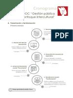 Cronograma MOOC GP Intercultural 2021 I