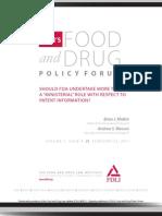 FDLI Policy Forum Vol 1, Issue 4