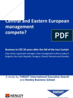 TARGET Executive Search - Can CEE management compete