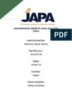 TAREA 10 - TURISMO ALTERNATIVO SUSTENTABLE