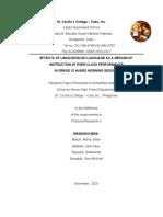 RESEARCH PAPER OF GRADE 12 ADOLPHUS