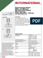 PRO_DV-, DRV- 06 to 16 Flow Control Valves