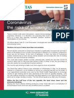 Coronavirus The risk of smoking