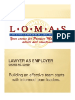 Lawyer as Employer