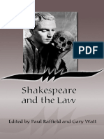 Shakespeare and the Law by Paul Raffield, Gary Watt