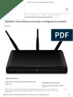 192.168.1.1_ Cómo Entrar en El Router y Configurar La Conexión