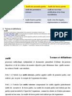 TERMINOLOGIE DE l'AUDIT SELON LA NORME ISO 19011