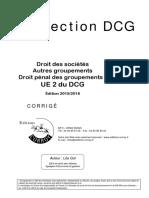 Dcgue2c Droit Des Societes Corriges