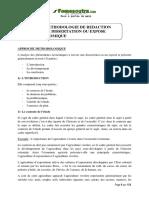 Méthodologie de Rédaction d'Une Dissertation