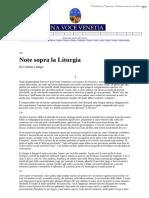 Cristina Campo, Note sopra la liturgia