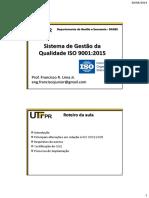 Aula 7 - Sistema de Gestao da Qualidade ISO 9001