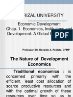 Chap. 1. Economics, Institutions and Development. A Global Perspective