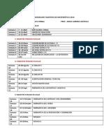 Calendarización Talentos Rv 2014
