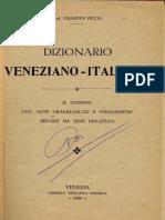 Dizionario Veneto Italiano Piccio