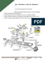 Devoir de Contrôle N°1 - Technologie - Machine à coller les étiquettes - 2ème Sciences (2018-2019) Mr Dhifaoui Abdelwaheb