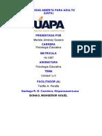 Psicologia Educativa 1 Unidad I y II