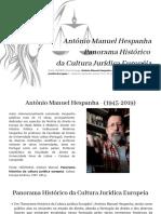 António Manuel Hespanha - Panorama Histórico Da Cultura Jurídica Européia