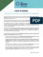 Carta de Madrid