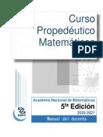 Curso Propedéutico Matemáticas 2020 Docente