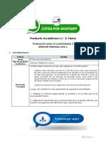 Derecho Procesal Civil i - Producto Académico N.° 3