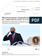 """Biden descarta passar a Trump informações sigilosas por """"comportamento errático"""" do ex-presidente _ Internacional _ EL PAÍS Brasil"""