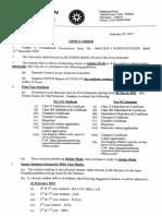 IUD Office order No. 001-2021