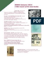 Libri avanguardia catalogo 11/2014