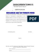 ACTA Cooperativa certificaciones