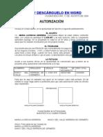 Autorizacion Para Cobrar Pension del IVSS
