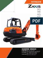 Escavatore 30-35-40 q.li Zx30 Zx35 Zx40 Hitachi Federservizi Bolzano It