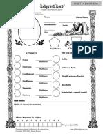 Scheda Labyrinth Lord Editabile ITA - V 1.0 Toradol