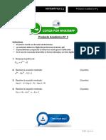 MATEMATICA 2.1 - Producto Académico N° 3