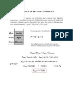 Mecánica de Fluidos Practica 1   SOLUCION