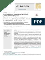 Ictus isquémico e infección por SARS-CoV-2,