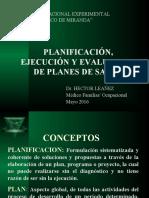Planificacion, Ejecución y Evalu de Planes de Salud